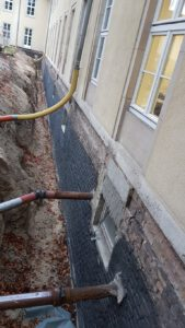 BIMA Potsdam, Außenabdichtungsarbeiten