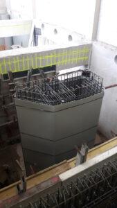 Hauptpumpwerk BRAWAG Bewehrungseinbau